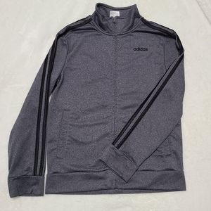 Adidas tricot jacket zip up long sleeve sz 10/12M